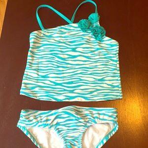 Zebra print swim suit